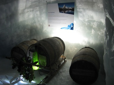 070 Ice Wine aging in a glacier