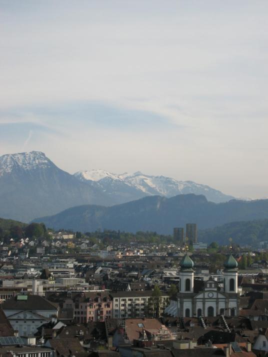 160 Jesuit church over Lucerne