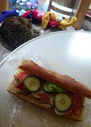 257 Lunch at Wilde Hilde - Chicken and Mozerella Sandwich