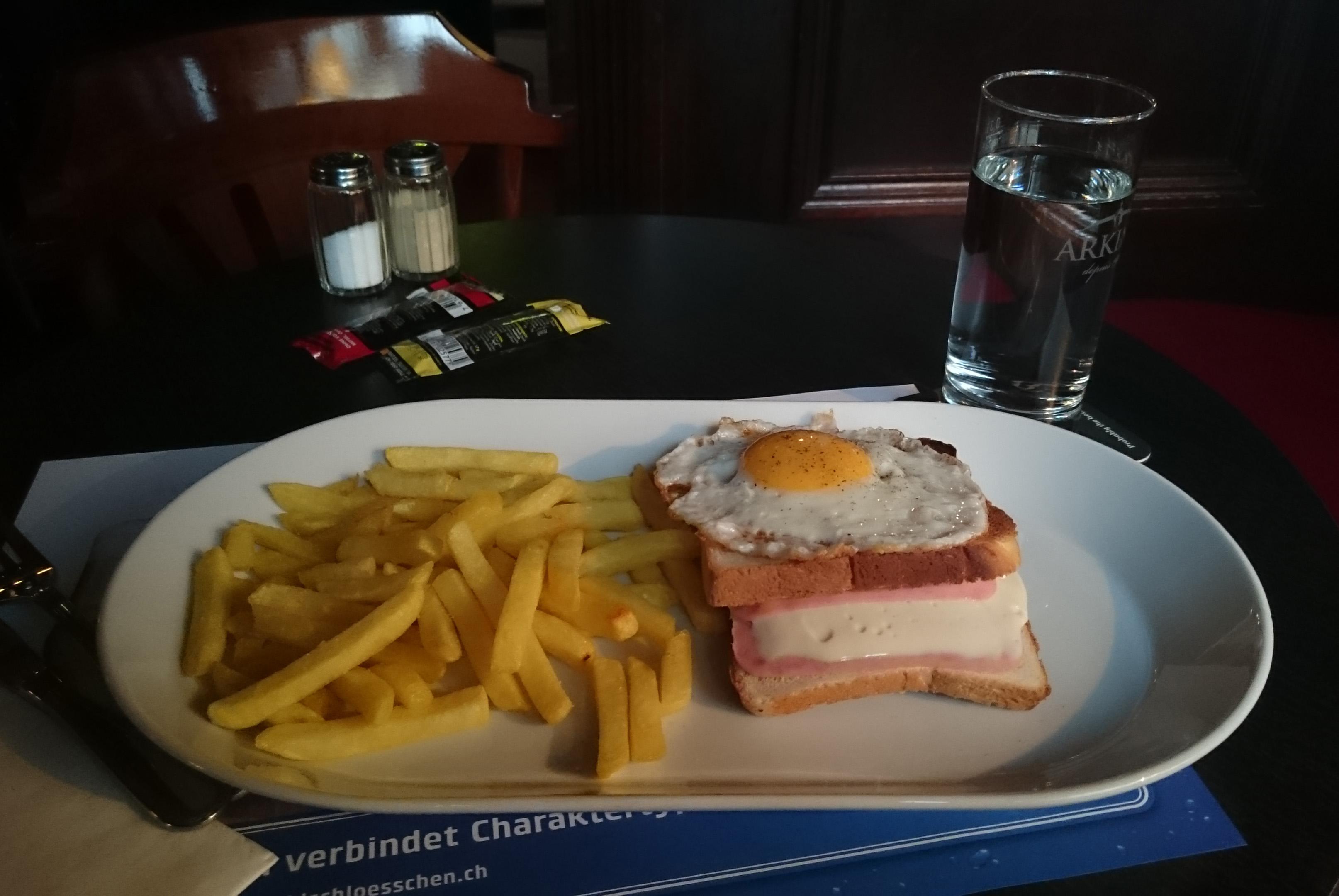 PIC_0036 Sun Lunch - Croque Madame pub food