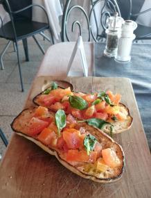 616 Dinner - Tomatoes and Basil (Bruschetta)