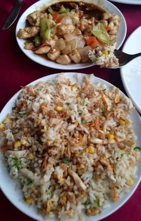 977 Dinner - Fried Rice and Chick with Oyster Sauce