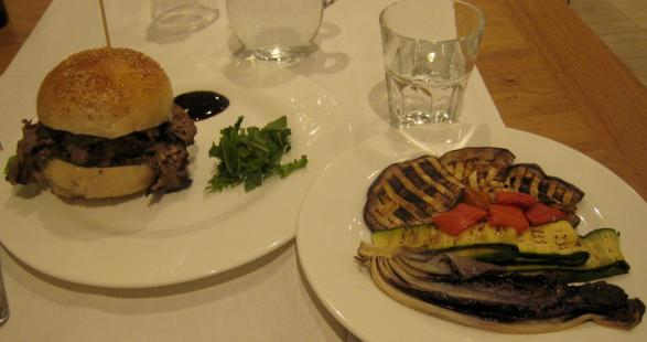 1386 EATALY - Burgerish and Grilled Vegetables