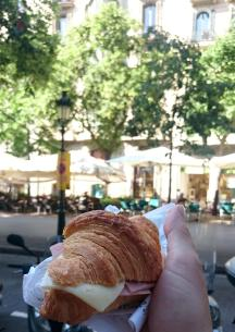 1764 Snack - Ham and Cheese on Croissant